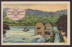 Replica,Rutledge & Cameron Mill,New Salem,IL Postcard