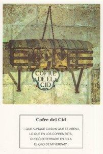 Cofre Del Cid Spain Spanish Coffin Postcard