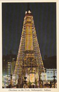 Indiana Indianapolis Christmas On The Circle Giant Christmas Tree