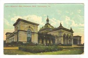Memorial Hall, Fairmont Park, Philadelphia, Pennsylvania,  PU-1908