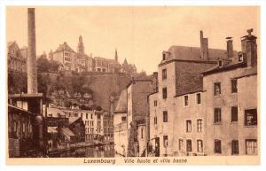 Luxembourg  Ville haute et ville basse