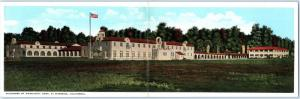 Double Postcard RIVERSIDE, California CA   NEIGHBORS OF WOODCRAFT HOME ca 1920s