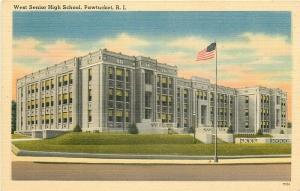 RI, Pawtucket, Rhode Island, High School, Berger Bros. No. 77334