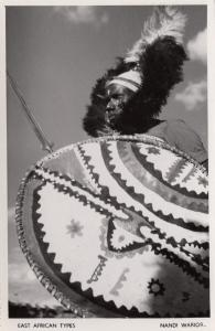 Kenya Nandi Warrior Real Photo Old Postcard