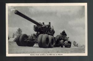 Mint WW2 US Army 155 MM Artillery Mobile Gun RPPC Postcard