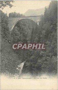 Old Postcard Saint Gervais is the Devil's Bridge