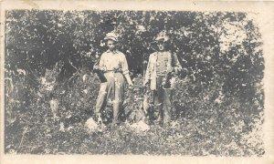 F80/ Ogilvie Minnesota RPPC Postcard 1912 Bird Hunting Ducks? Men Rifles