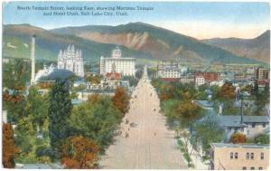 D/B of South Temple Street looking East Salt Lake City Utah