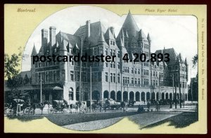 893 - MONTREAL Quebec Postcard 1910s Place Viger Hotel. Wagons Horses