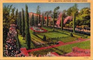 California A Beautiful Southern California Garden Curteich