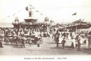 Reproduction c1909 Postcard, Entrance to the Pier, Bournemouth, Dorset 95T