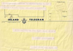 Glee Live Comedy Club Otahuhu New Zealand 1975 Telegram