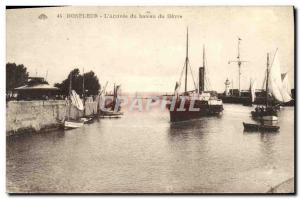 Old Postcard Honfleur The Arrival of the Boat Harbor