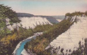 New York Letchworth State Park High Banks At Great Bend Elevation 700 feet Hi...
