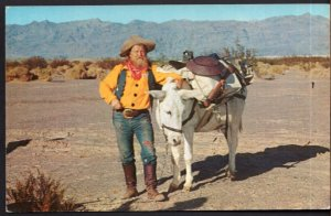 California Typical Prospectors their Laden Burros PALS Death Valley - Chrome