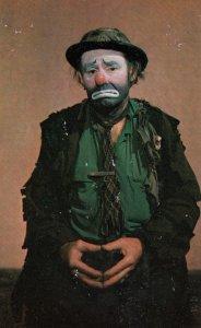 Emmett Kelly as Weary Willie the clown , 50-60s