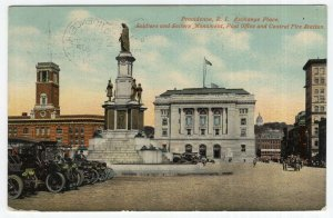 Providence, R.I., Exchange Place, Soldiers and Sailors Monument, Post Office