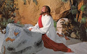 Jesus Praying in the Garden of Gethsemane Religious Unused