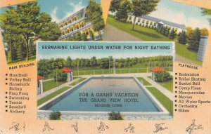 Moodus Connecticut Grand View Hotel Swimming Pool Vintage Postcard AA30719