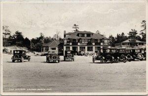 The Wasaga Wasaga Beach Ontario ON c1933 Irwin RPPC Postcard F16 *as is