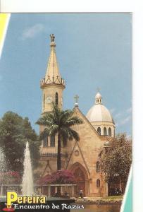 Postal 027953 : Pereira, Encuentro de Razas (Colombia). Lago Uribe Uribe