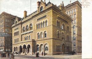 Syracuse New York~Post Office~Columbia Dental Parlors~Ladies on Street~1906 PC