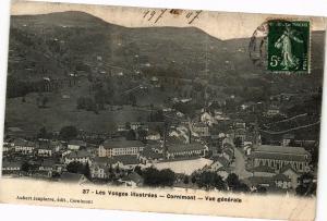 CPA Les Vosges Illustrées - CORNIMONT - Vue générale (200348)