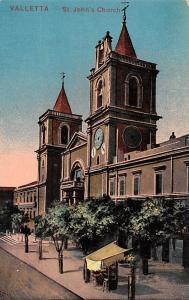 Malta Valletta - St. John's Church 1917