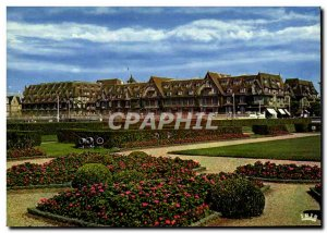 Postcard Modern Deauville Les Fenetres Flowery L Hotel Normandy