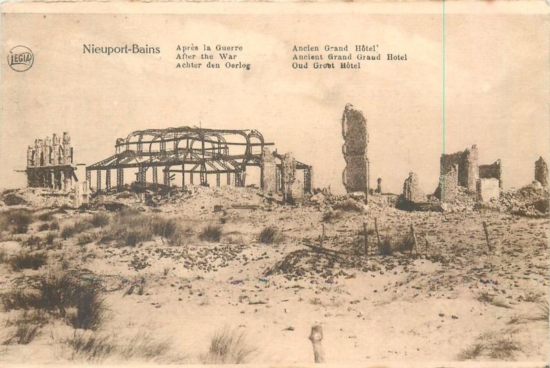 Nieuport-Bains after the War Belgium Belgique