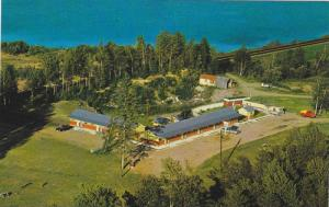 Air view,  Parkview Motel on Hwy 17,  Upsala,  Ontario,  Canada,  40-60s
