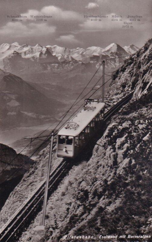 RP; PILATUSBAHN, Switzerland, 1920-1940s; Eselwand Mit Berneralpen