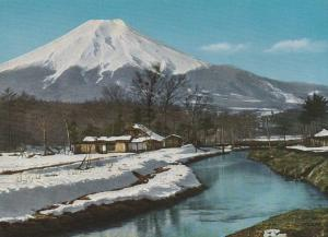 Mount Fuji, Japan - Snow covered Village