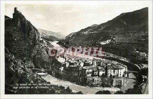 Postcard Modern Vallee du Var Entrevaux (Lower Alps) Vue Generale and the Cit...
