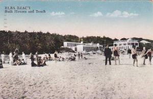 New York Elba Beach Bath Houses And Beach 1935