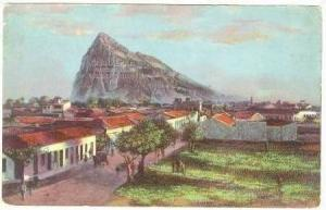 Gibraltar rock from Lima building, 00-10sPrudential Life Insurance ADV postcard