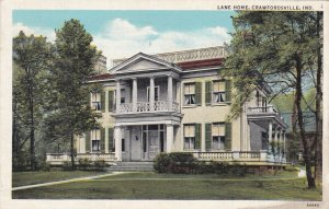 Indiana Crawfordsville Henry S Lane Home 1950 Curteich sk1559