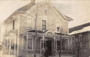 New Clarus Wisconsin Historic Bldg Exterior Real Photo Antique Postcard K24989