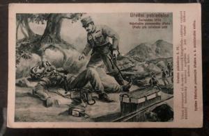 Mint Czechoslovakia Picture Postcard PPC Army black crisis