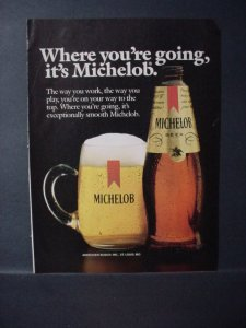 1985 Michelob Beer Full Page Color Vintage Print Ad 10953