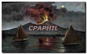 Old Postcard Volcan Napoli Il Vesuvio in eruzione Aprile 1906