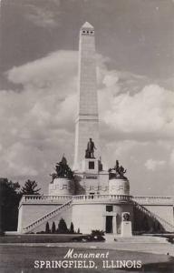 Illinois Monument Of Springfield Real Photo