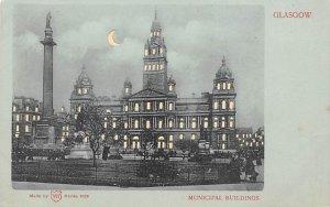 Municipal Buildings Glasgow, Scotland Hold to Light Unused tab marks on corne...