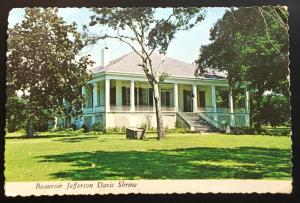 Postcard Unused Beauvoir Jefferson Davis Shrine Biloxi MS LB