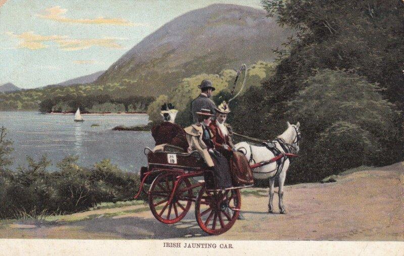 IRELAND, 1900-10s; Irish Jaunting car, Horse and carriage