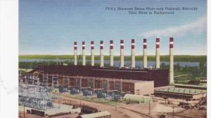 PADUCAH, Kentucky, 1930-1940´s; TVA's Shawnee Steam Plant, Ohio River in Bac...