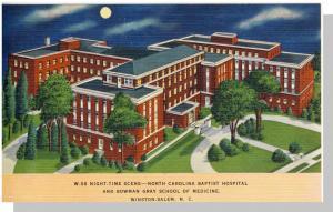 Winston-Salem,North Carolina/NC Postcard,Hospital,Near Mint!