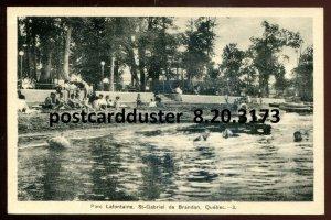 3173 - ST. GABRIEL DE BRANDON Quebec Postcard 1930s Parc Lafontaine by PECO