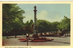 Wolfe's Monument , Battlefield Park , Quebec , Canada , 30-40s