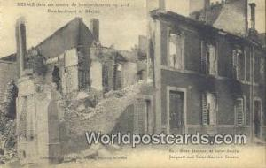 Saint Andrew Street, France, Carte, Postcard Bombardemtn of Rheims, Rues Jacq...